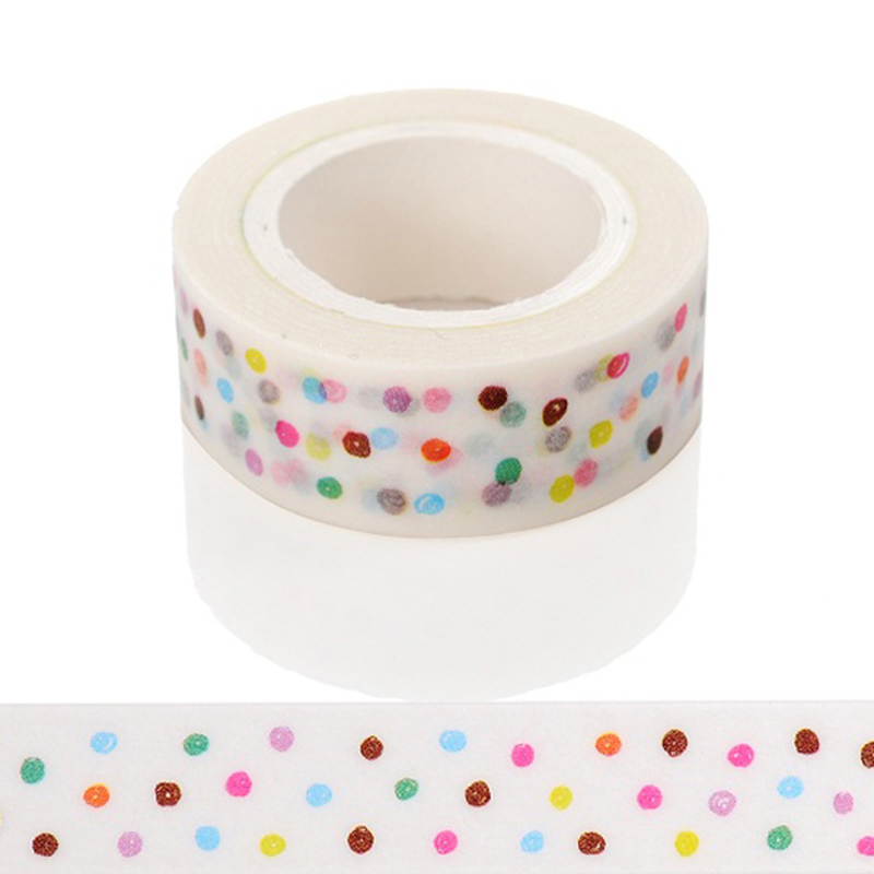 1 Pc / Pack Patterns For Choice 15mm *10m Tape Print Scrapebooking Diy Stickyr Decorative Masking Japanese Washi Tape Paper