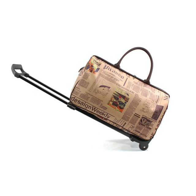 New Waterproof Men Travel Bags Woman Vintage Trolley Luggage Bag Girls Fashion Rolling Luggage