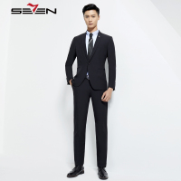 Seven7 Classic Suits Men Slim Fit Business Wedding Groom Tuxedo Male Jacket Latest Coat Pant Designs Suit 114C10030