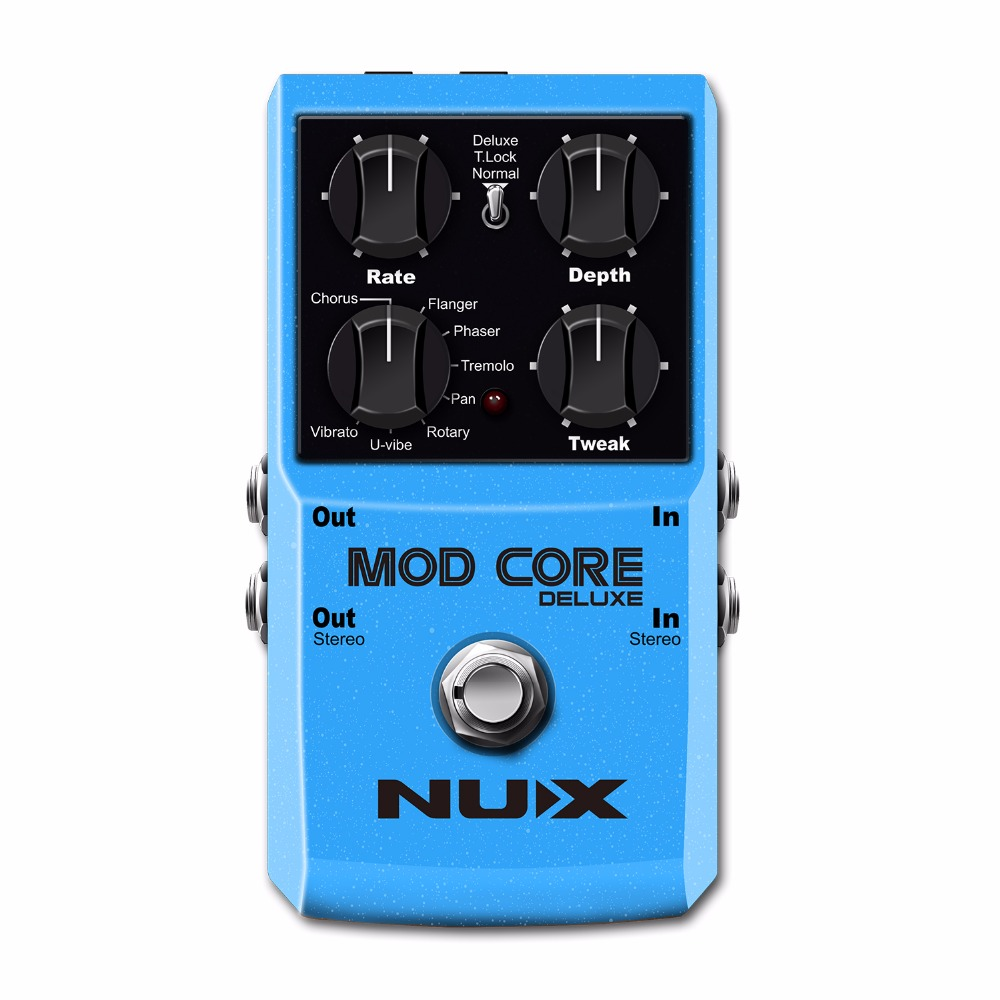 NUX Mod Core Deluxe 16 Guitar Effects Pedal Modulation Guitar Effect Pedal True Bypass Aluminum Alloy Shell Guitar Accessories nux metal core distortion stomp boxes electric guitar bass dsp effect pedal 2 metal hardcore sound true bypass