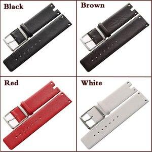 Image 2 - Maikes nieuwe collectie lederen horloge band band zwart wit zacht duurzaam horlogebanden case voor ck calvin klein k94231