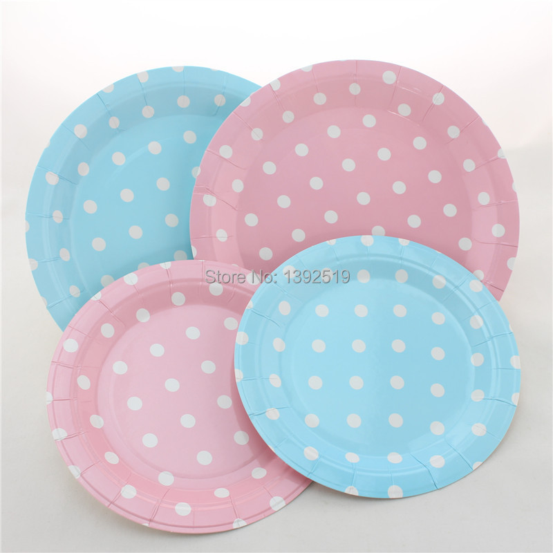 Free Shipping 48pcs Baby Pink Dot Paper Plates Retro Party Plates 7  Round Polka Dot Plates-in Disposable Party Tableware from Home u0026 Garden on ... & Free Shipping 48pcs Baby Pink Dot Paper Plates Retro Party Plates 7 ...