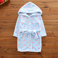 4 Kinds Cotton Children Bathrobes Children's stars love robe Baby Homewear Boys Fleece Robe For girls Cartoon Bathrobe Kids Gift