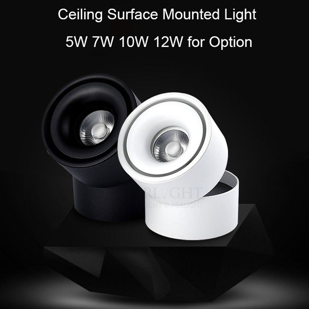 Free gratuite 7 W 10 W 12 W surface monté plafond spotlight 110-240 V de projecteur ferroviaire blanc chaud pour vêtements chaussures boutique éclairage