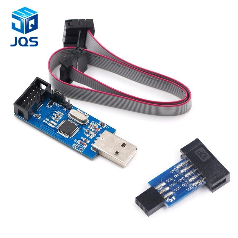 10Pin To 6 Pin Adapter Board + USBASP USBISP AVR Programmer USB ATMEGA8 ATMEGA128 ATtiny/CAN/PWM 10Pin Wire Module