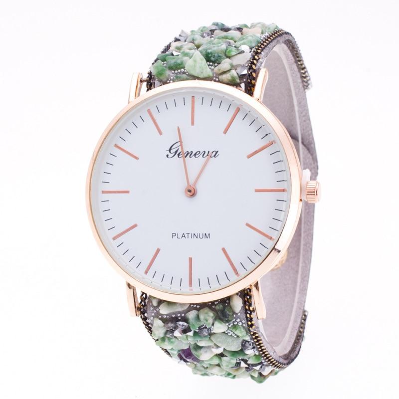 Topkeeping Brand New Women Watches Natursten Armbånd Geneva Watch - Dameure - Foto 3