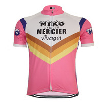 2017 new Pro team brand men classic Cycling jersey bike wear Short sleeve ropa ciclismo Summer Breathable pink cycling clothing