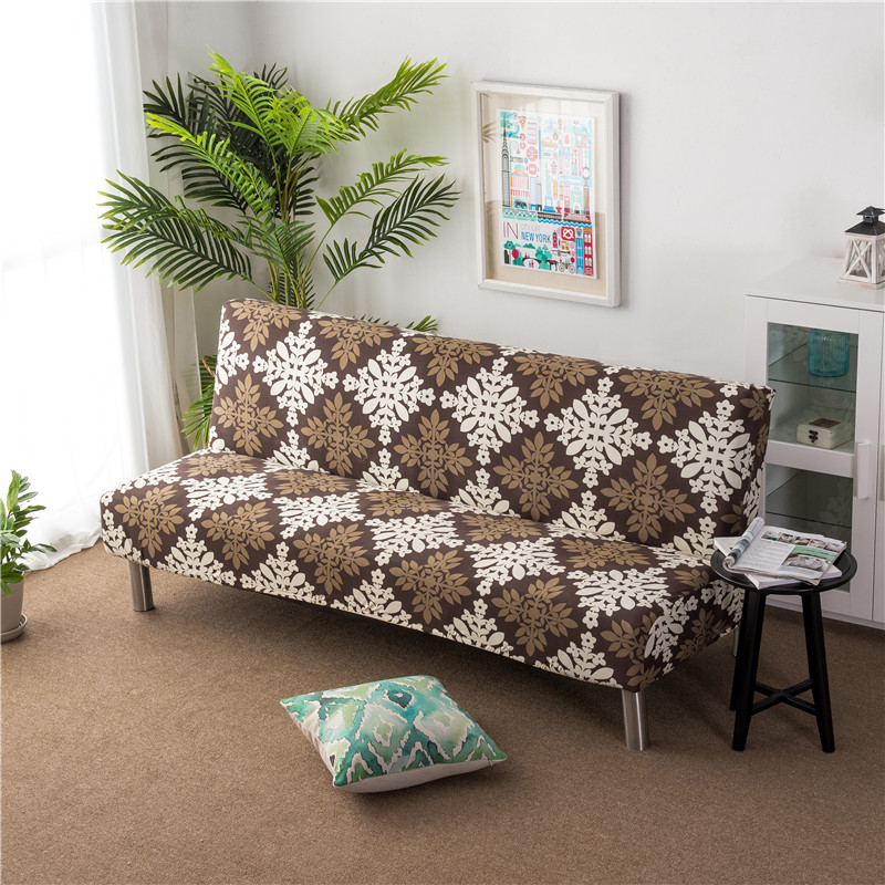 Us 20 51 42 Off Flower Print Sofa Bed Cover All Inclusive Slipcover For Without Armrest No Handrail Covers Two Three Seat Capa De In