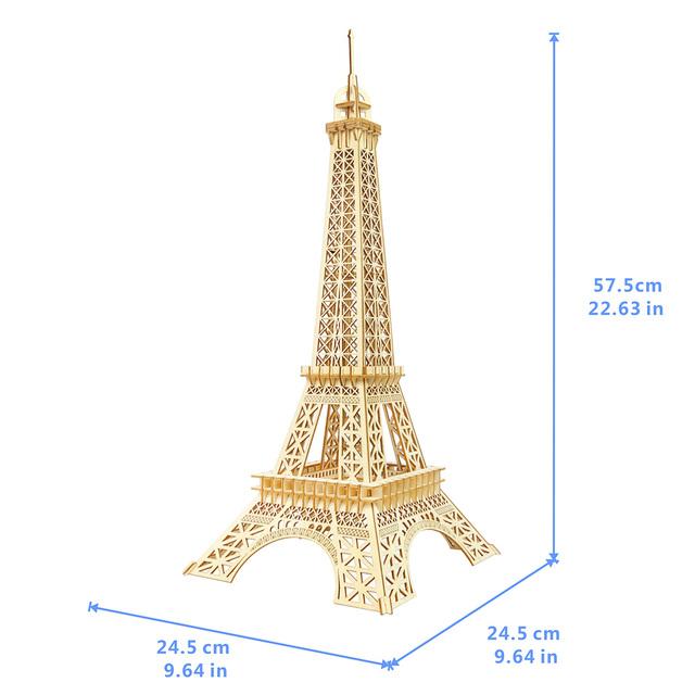 3D Eiffel Tower Wooden Puzzle