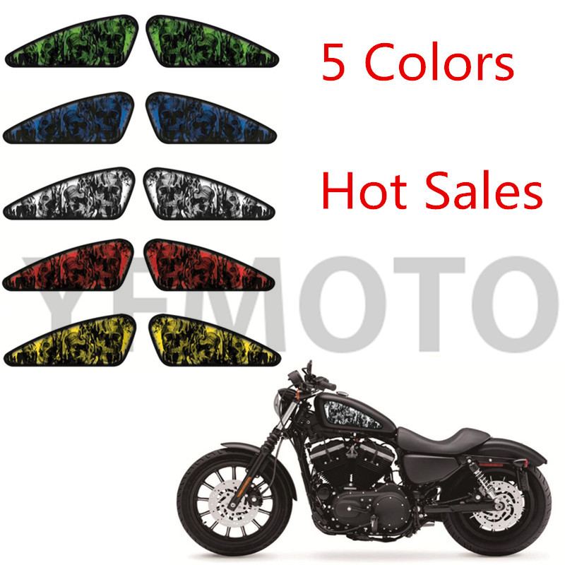 Popular Harley Skull DecalBuy Cheap Harley Skull Decal Lots From - Skull decals for motorcycles