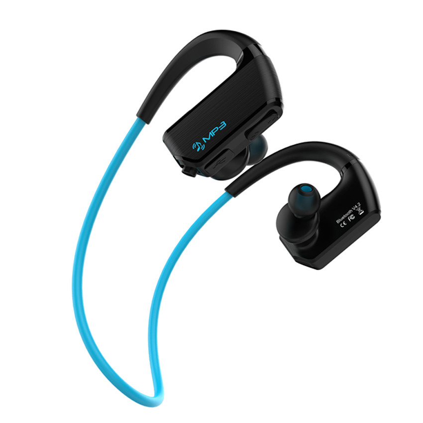 J2 IPX4 Waterproof Mp3 Music Player 8GB+Wireless Bluetooth Sport Earphone Earbuds Headset with Mic Handsfree for Phone Walkman lymoc v8s business bluetooth headset wireless earphone car bluetooth v4 1 phone handsfree mic music for iphone xiaomi samsung