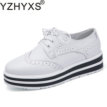 bf60cfbd5d4c Fashion Women Shoes For Spring Autumn Korean Brogue %100 Genuine Leather  Flats Platform Women s Casual