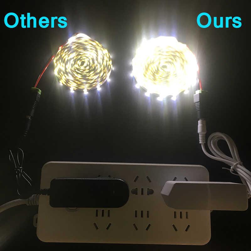 12V LED Strip 5M 300 Leds RGB LED Strip Lampu SMD3528 2835 RGB Flexible Strip Perekat Remote Adaptor pita Home