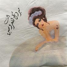 Servilleta de papel Decoupage, pañuelo elegante para fiesta de cumpleaños, boda, boda, hogar, hotel, café, servilletas, decoración vintage