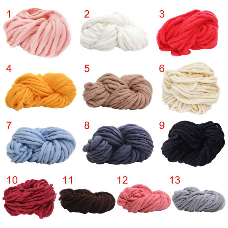 1bf10c41df0 Super Bulky Arm Knitting Wool Roving Knitted Blanket Chunky Cheap Wool Yarn  Super Thick Yarn For Knitting crochet carpet hats