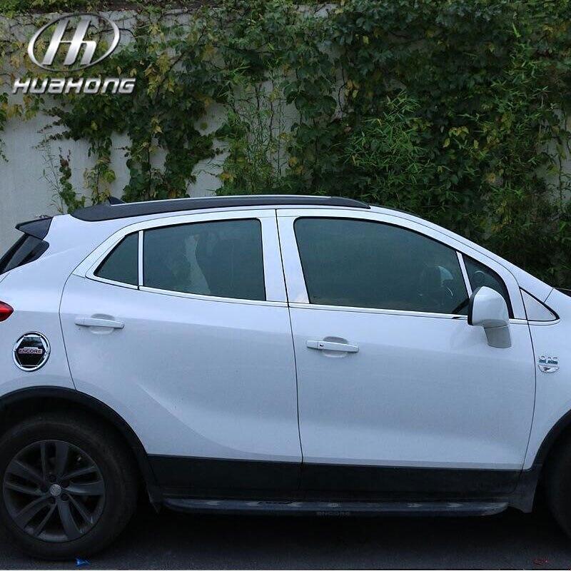 Prix pour Pour Opel Mokka fenêtre garniture couverture Extérieure voiture de coiffure décoration inoxydable matériel chrome produits accessoire partie 2013-2015