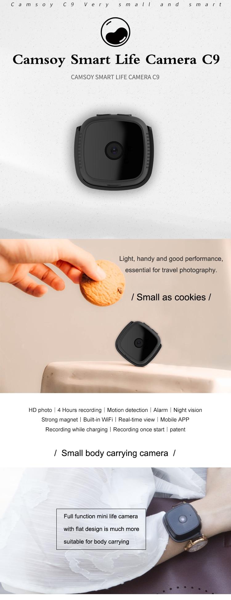 C9 Camsoy Cookycam WiFi Mini Camera Night Vision (1)