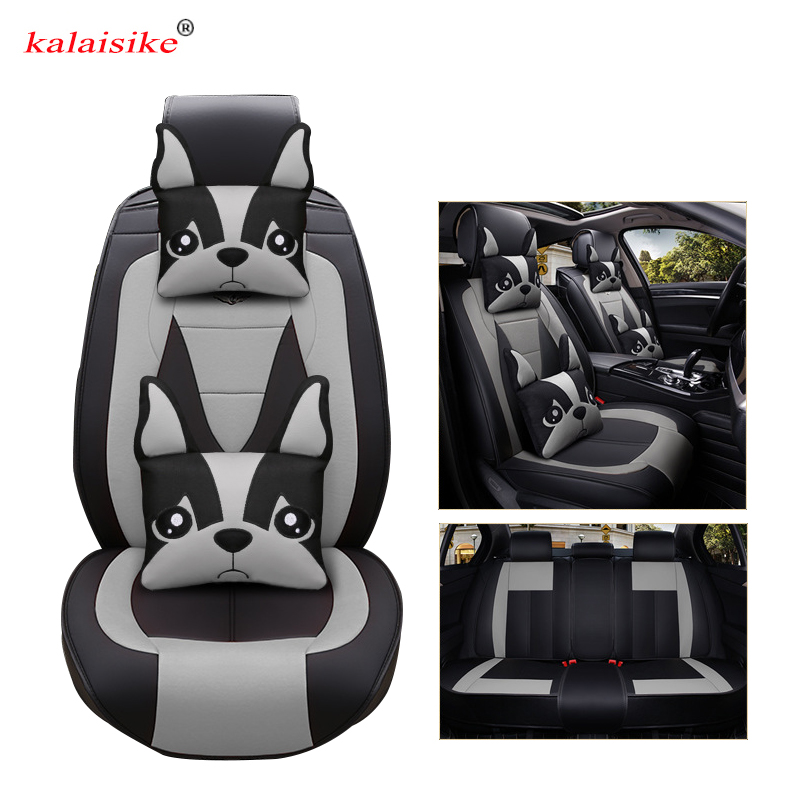 Housses de siège auto universelles en cuir Kalaisike pour Volkswagen tous modèles polo vw passat golf tiguan Passat jetta Phaeton touareg