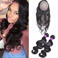 360 Lace Frontal Closure With Bundles Malaysian Body Wave 360 Lace Frontal With Bundle Pre plucked 360 frontal with bundles