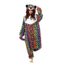 Polar Fleece Cute Spotted Leopard Costume Women Men Unisex Onesies for Adults Couple Pajamas All In One Home Sleepwear Pyjamas