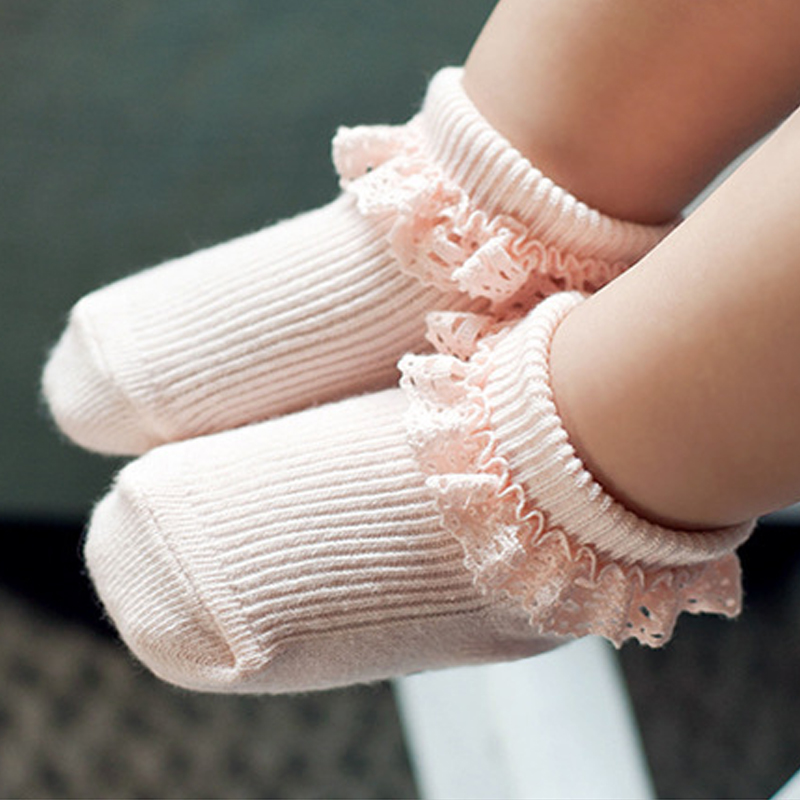 Baby Socks Sweet Princess Lace Girls Infant Toddler Cotton Ruffles Ankle Socks