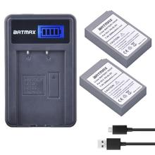 2000 мАч 2 шт. BLS-5 BLS5 BLS50 Батарея + ЖК-дисплей USB Зарядное устройство для Olympus PEN E-PL2, E-PL5, E-PL6, E-PL7, E-PM2, E-M10, E-M10 II, Stylus1