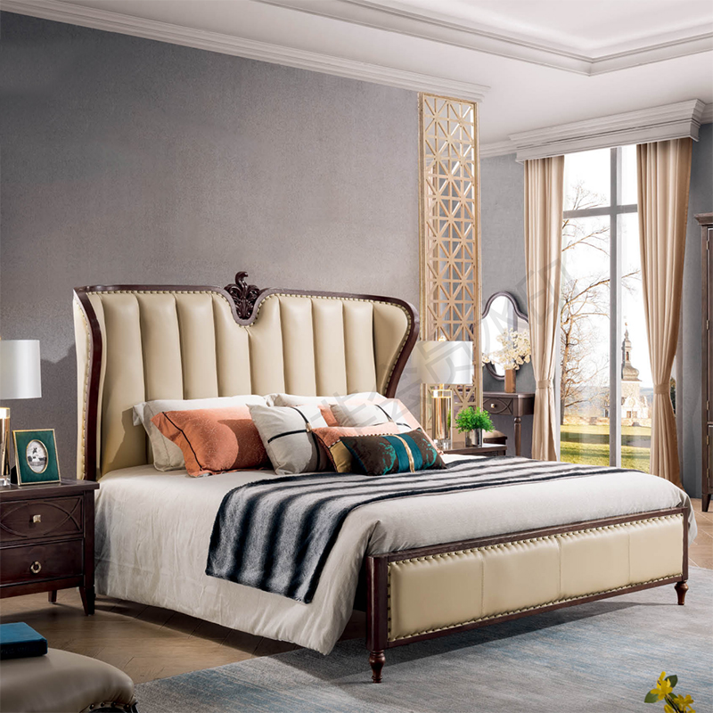 US $988.0 |elegant bedroom furniture modern luxury double beds designs-in  Bedroom Sets from Furniture on AliExpress