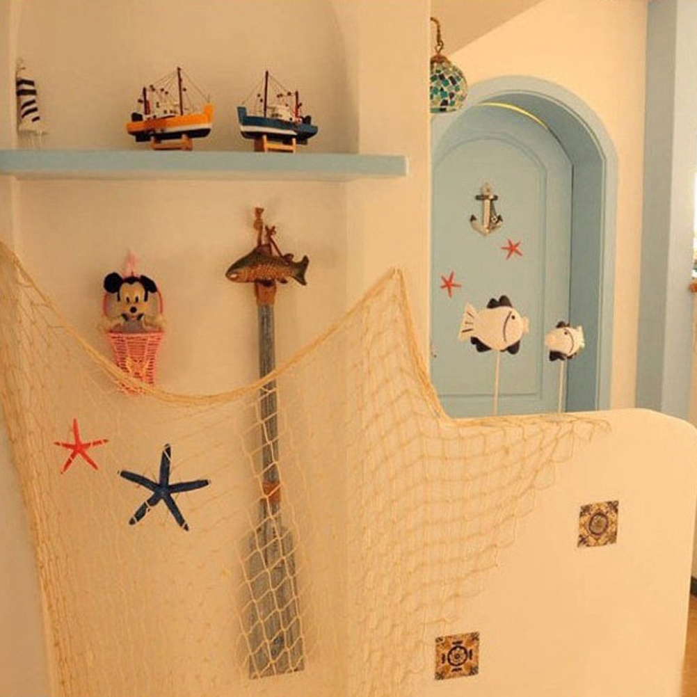 Wall Hanging Nautical Decorative Fish Net Fishing Netting Luau Party ...