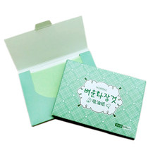 100sheets/pack Green Tea Facial Oil Blotting Sheets Paper Cleansing Face Oil Control Absorbent Paper Beauty makeup tools(China)