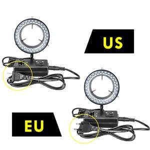 Image 2 - Foxanon LED Ring Licht Illuminator Lampe AC 110V 220V Einstellbare Stereo Mikroskop Licht 4,5 W 60 LEDs Keine flackern Kreis Licht