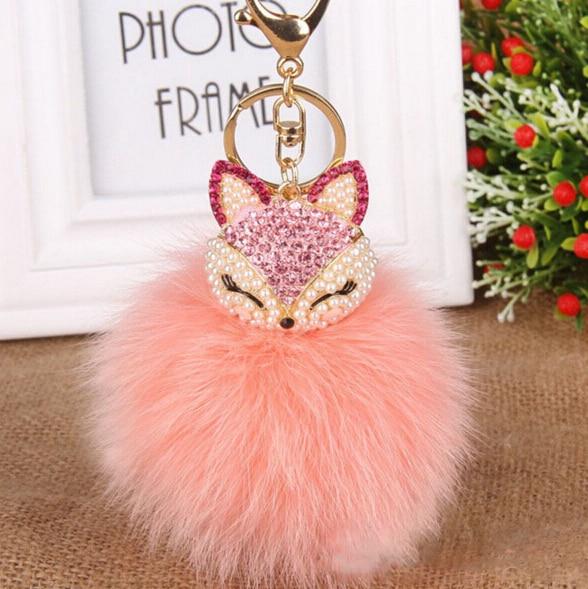 font b Luxurious b font Big Real FOX Hair Fur Ball Fur Pom Pom font