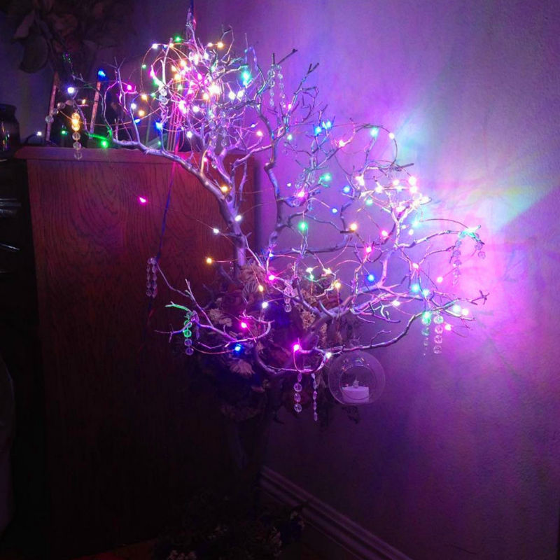 1pc*chirstmas light/wedding/party decoration lights AA battery operated Xmas holiday cooper wire led fairy starry string light