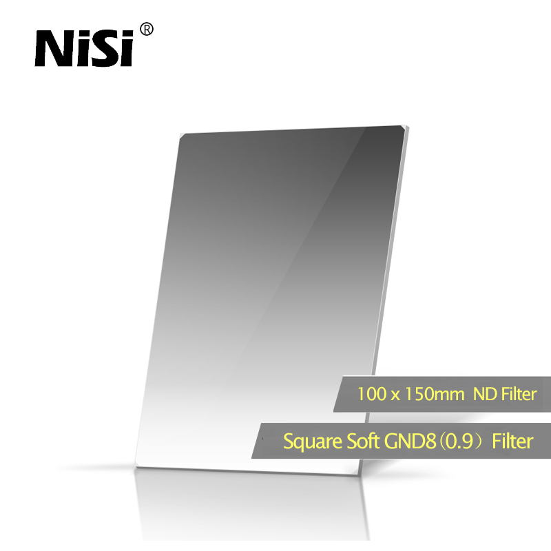 NISI Square Filter GND8 100*150mm 0.9 Filter Double Ultra Nano Coating Soft GND Insert Optical Glass Filters nisi hard nano gnd 8 0 9 square graduated filter for nikon more black white 100 x 150mm