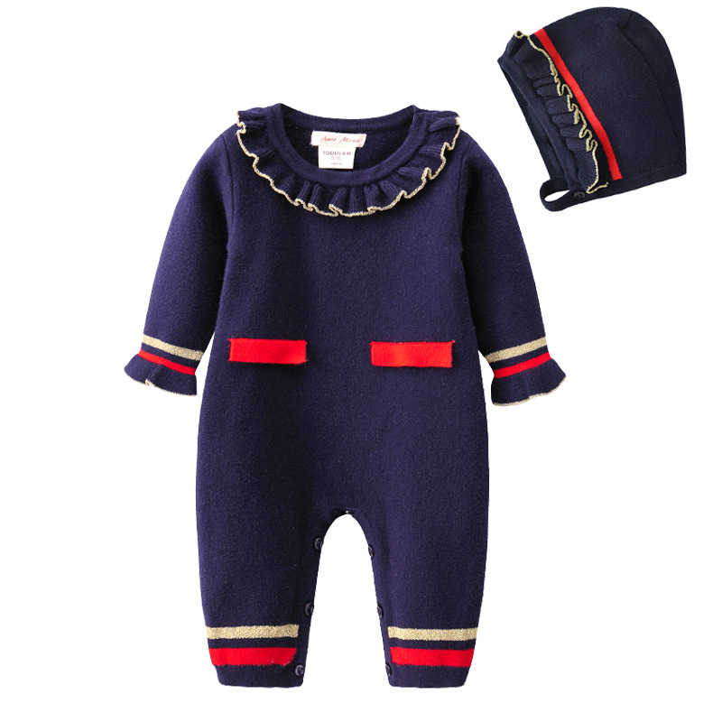 Newborn Baby Boys Clothing Rompers Navy Cotton Knitting Infant Warm Jumpsuits Long Sleeve Toddler Kids Overalls Children OutfitsNewborn Baby Boys Clothing Rompers Navy Cotton Knitting Infant Warm Jumpsuits Long Sleeve Toddler Kids Overalls Children Outfits