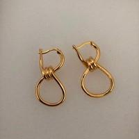 2019 Europe Cold Metal wind twisted Knotted CC Small Hoop Earrings Kolczyki Kupe Joyas Jewelery Boucle Oreille Oorbel Ohrringe