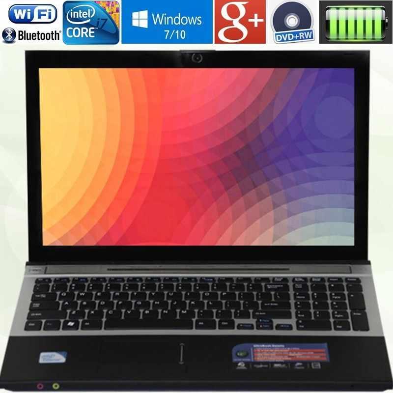 """8 gb RAM + 60 gb SSD + 500 gb HDD 15.6 """"LED Intel Core i7 CPU Máy Tính Xách Tay chơi windows 7/10 Máy Tính Xách Tay Máy Tính Được Xây Dựng Trong WIFI Bluetooth DVD-RW"""