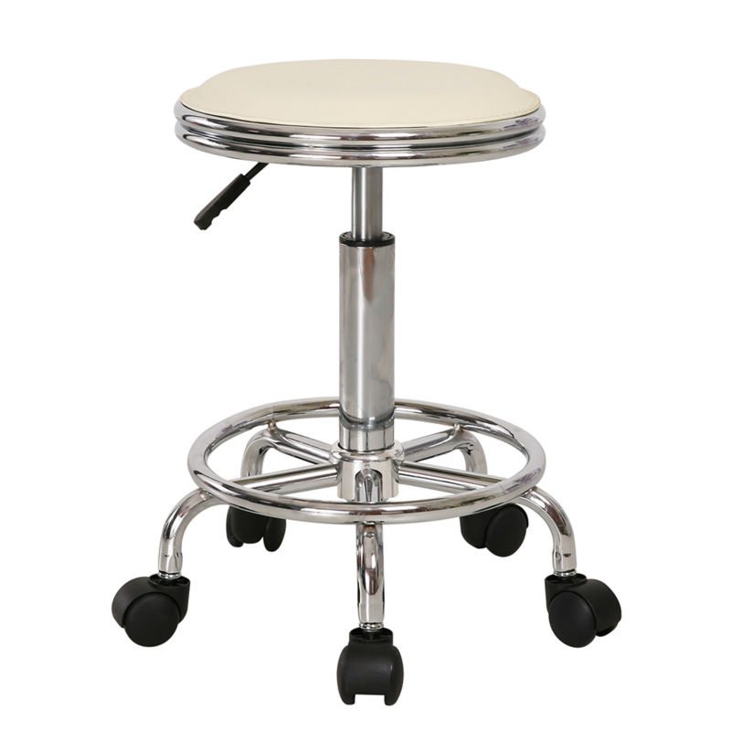 1pc Pneumatyic Rolling Bar Stool Work Office Chair With 360 Degress Casters Wheels Adjule Height