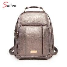 цены Multi-function Women Backpacks New High Quality Youth PU Leather Backpacks for Teenage Girls Female Shoulder Bag Bagpack mochila
