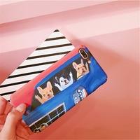 Cute Cartoon Animal Dog Phone Cases Back Cover For IPhone 7 8 Plus Fashion Matte TPU