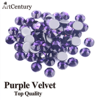 Amazing Accessories Hot Iron On Transfer 1440pcs 5mm SS20 Purple Velvet Hotfix Rhinestones