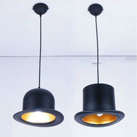 1PCS/LOT Square hat chandelier black shell color pendant aluminum led lighting chandelier 220V modern chandelier led lamp