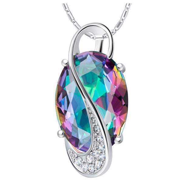 Collier femme romantic crystal rainbow fire mystical crystal pendant collier femme romantic crystal rainbow fire mystical crystal pendant necklace woman popular choker necklaces vintage jewelry aloadofball Images