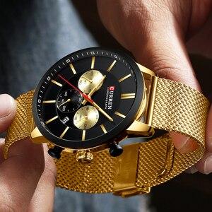 Image 5 - 2019 New CURREN Watch Men Chronograph Quartz Business Mens Watches Top Brand Luxury Waterproof Wrist Watch Reloj Hombre Saat