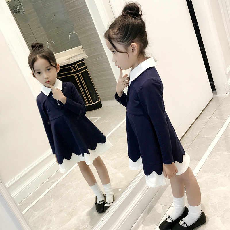 Платье с длинными рукавами для девочек винтажное Хлопковое платье одежда для подростков школьные наряды для детей 6, 7, 8, 9, 10, 12, Kinderkleding Meisjes