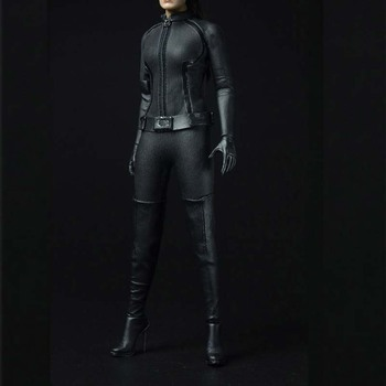 Mnotht 1/6 Scale Catwoman Clothes Suit One-piece garmen T-Shirt/Cuff/Belt/Boots Model For 12in   Action Figure Toys Collection