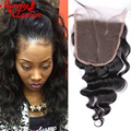 8A Malaysian Virgin Hair Lace Closure 3 Part Loose Wave Closure Bleached Knots 5X5 Human Hair Closure Sunny Queen Hair Products
