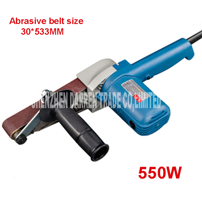 At Variable Speed 30 * 533mm Belt Sander 550 w High Power Wood Belt Sander 220 v Glass Paper Grinder
