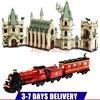 DHL LEPIN 16030 1340pcs Hogwart S Castle LEPIN 16031 Hogwarts Express Train Set Building Blocks Clone