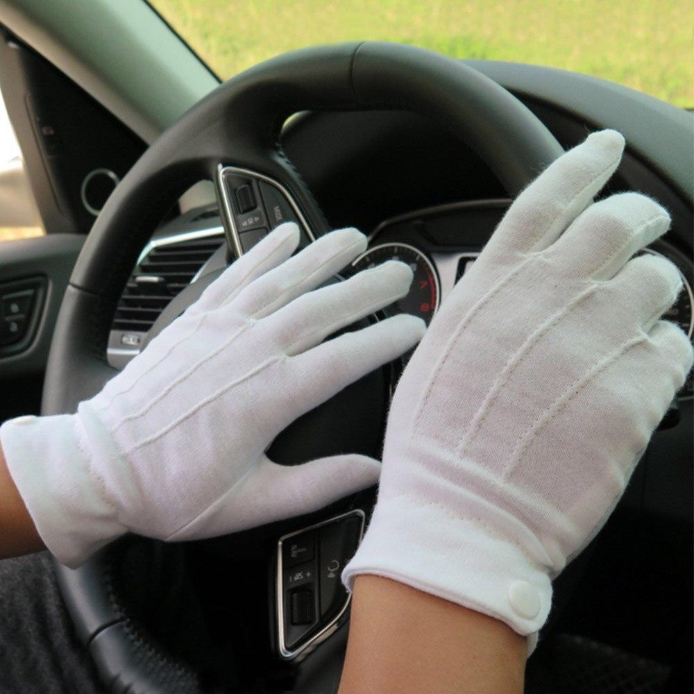 New Arrive Men Cotton White Tuxedo Gloves Formal Uniform Guard Band Butler Unisex Gloves Parade Dress Uniform Guard Gloves