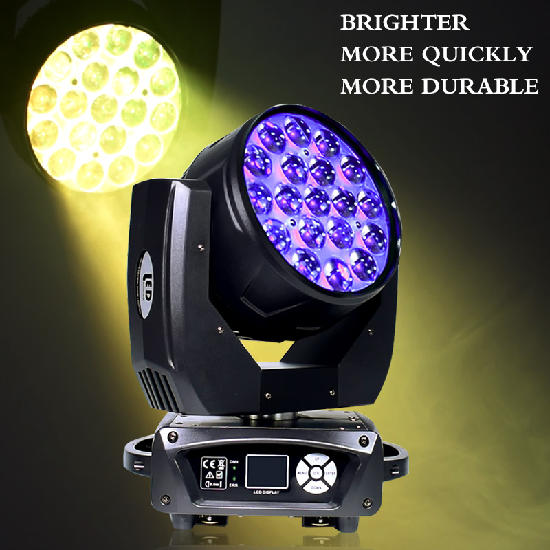 Moving Head 19X15W LED Zoom Wash Professional Light Moving Head 19X15W LED Zoom Wash Professional Light